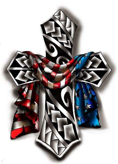 cross and american flag tattoos veggiemuse tattoos american flag draped a cross