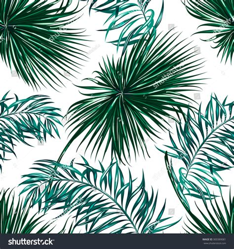 jungle wallpaper pattern tropical palm leaves seamless vector jungle stock vector