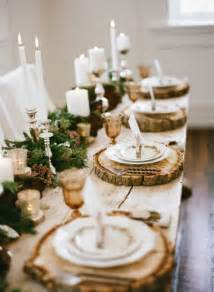 Stemmed Hurricane Vases Winter Tablescape Decorating Ideas
