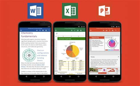 microsoft office apps for android updated with new