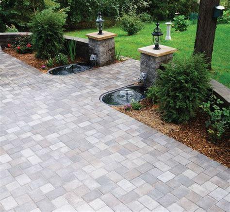 cobblestone patio green dreams
