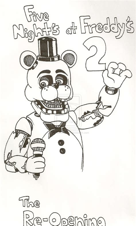 Fnaf 7 Coloring Pages by Coloring Pages Fnaf To Print Coloring For 2018