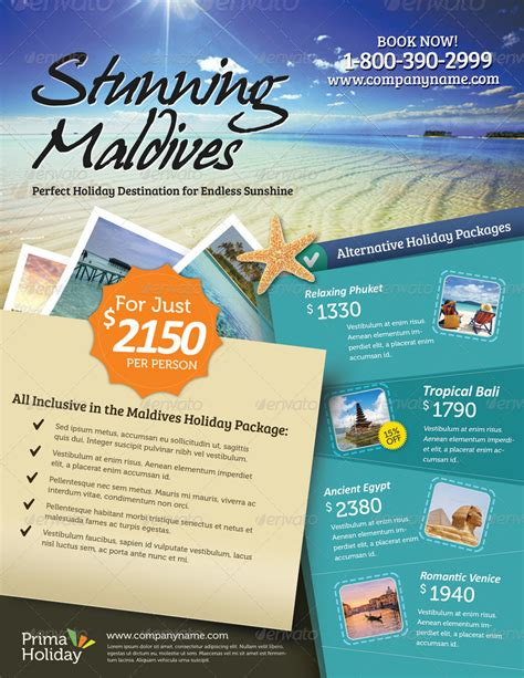Holiday Travel Flyer Vol 01 By Kinzi21 Graphicriver Template Ads