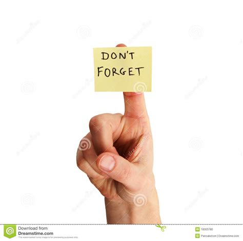Dont Forget by Don T Forget Note On Finger Stock Photo Image 18303780