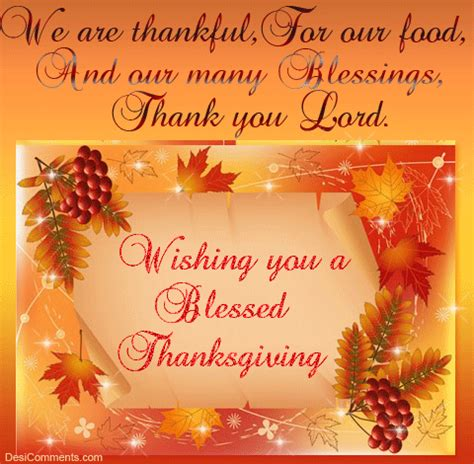 thanksgiving blessing quote autumn fall thanks list