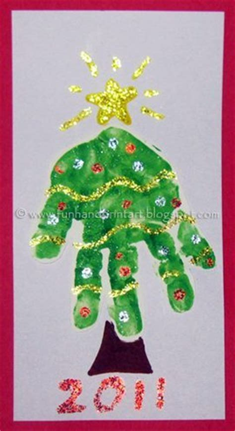 adorable handprint christmas tree fun handprint art