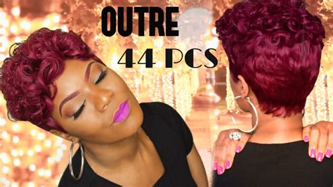 quick weave pixie start to finish outre velvet roll up 44 pcs youtube