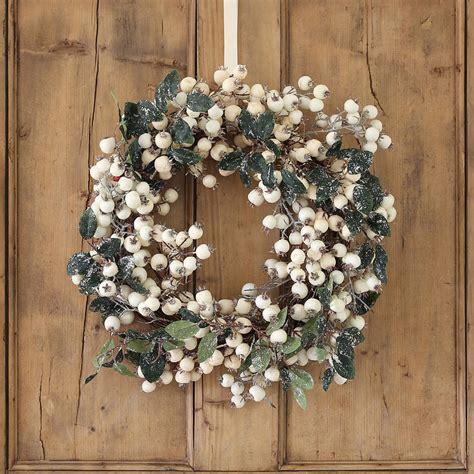 white snowberry christmas wreath by ella james