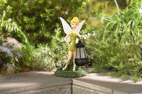 disney statue with solar lantern tinkerbell limited
