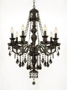 New Jet Black Gothic Crystal Chandelier Lighting H37 Quot X Black Chandelier Nz