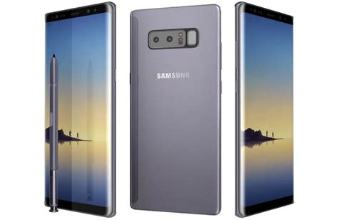 Samsung Note 8 Orchid Grey 3d model samsung galaxy note 8 orchid grey cgtrader