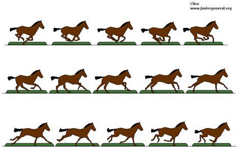 running horse template