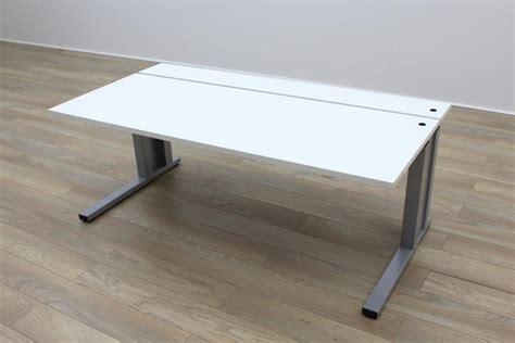 2 Workstation Desk by Height Adjustable White 2 Tier Office Desk Workstation Ebay