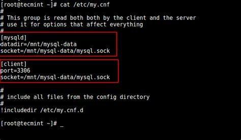 configure mysql xp linux how to change a default mysql mariadb data directory in linux