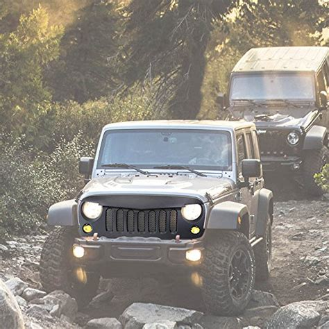 jeep mesh grill jeep wrangler jk grilles grille guards and grille inserts