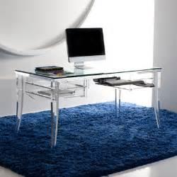 Computer Desk With Drawer Modern Acrylic Desk Mecox Gardens