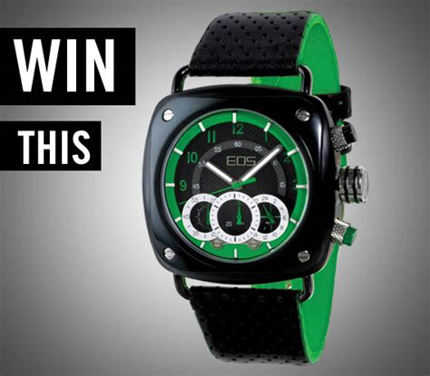 Eos Giveaway - giveaway eos green gauge watch cool material