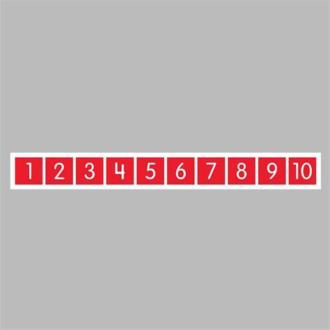 number path floor mat