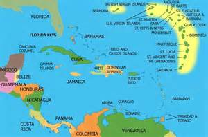 Caribbeans Map by Ultimate Honeymoon The Caribbean For Free With British