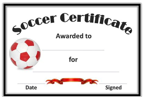 Soccer Award Certificates Template Kiddo Shelter Soccer Award Template