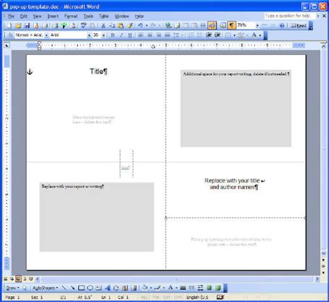 card templates for microsoft word pop up card reports