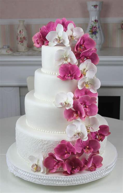 Hochzeitstorte Orchidee by Hochzeitstorten Hochzeitstorte Ideen 2081897 Weddbook