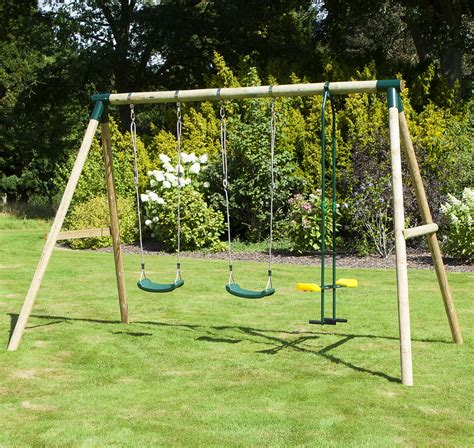 Swing In The by Rebo Neptune Wooden 3 In 1 Garden Swing Set Swing