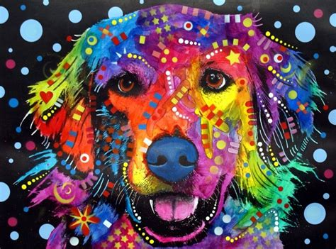 colorful dogs abstract neat and gross pop awesome and psychedelic
