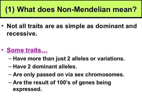 what does it all biology unit 5 genetics non mendelian genetics notes