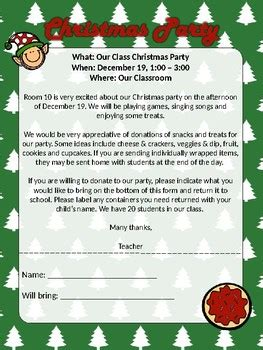 christmasholiday party letter fully editable ms