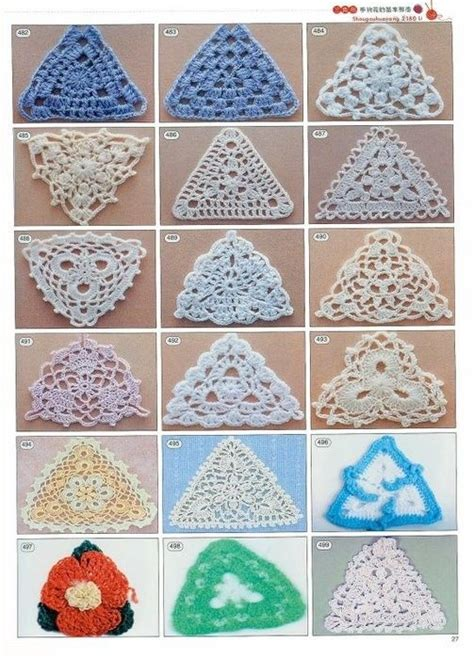 pattern triangle crochet 10 images about crochet triangle motifs on pinterest