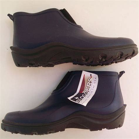 sloggers rubber ankle garden boots navy blue size 9