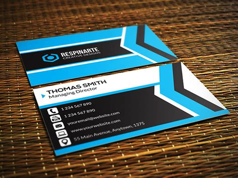 40 free business card psd templates devzum
