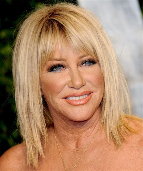 How To Do Suzzane Somers Haircut | suzanne somers casual medium straight hairstyle