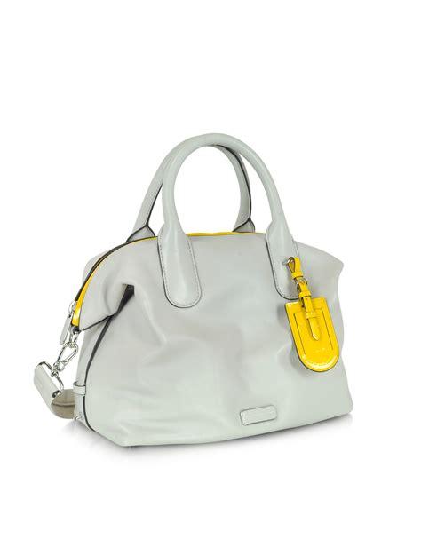Marc By Marc Aline Leather Handbag by Lyst Marc By Marc Legend Large Bone Leather