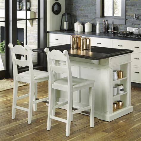 fiesta granite top kitchen island with 2 stools homestyles