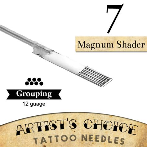 tattoo needle for writing artists choice tattoo needles 7 magnum shader 50 pack