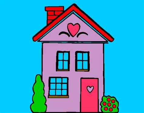imagenes bonitas para dibujar pintadas dibujo de casa lila con corazones pintado por anabelen1 en