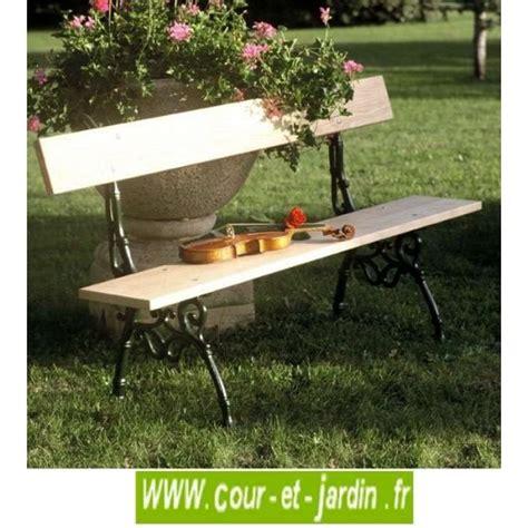 Banc De Jardin En Bois Et Fonte by Banc De Jardin En Fonte Bois Avec Dossier Design Pas