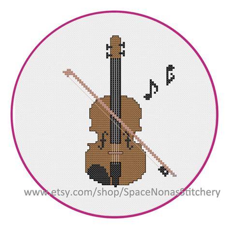 felt violin pattern violin viola cross stitch pattern pdf