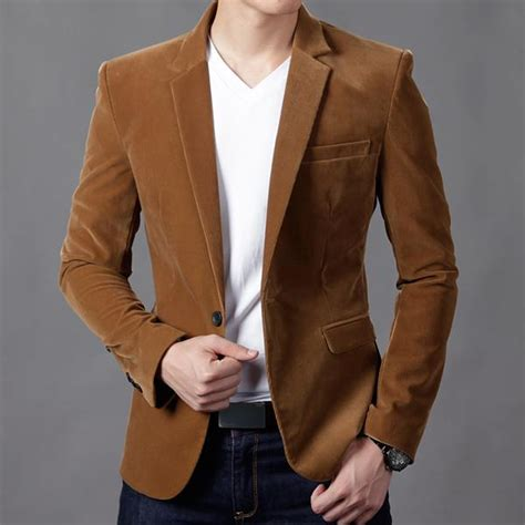 Blazer Style Navy Fit Blazer 82 mens blazer slim fit suit jacket khaki navy velvet 2016new fashion autumn blazer suit