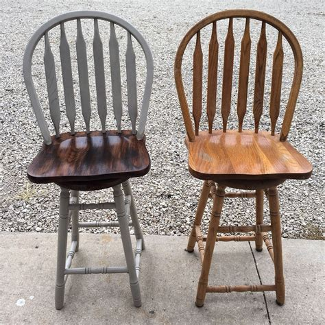 how to paint a bar stool plain light oak bar stools transformed i used spray paint