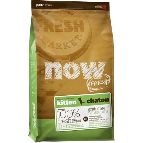 now fresh food petcurean now fresh kitten food 8 lb entirelypets