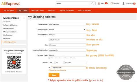 aliexpress address zakupy na aliexpress