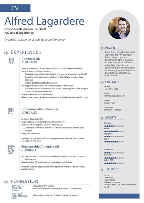 Exemple Type De Cv by Type De Cv Cv Model Jaoloron