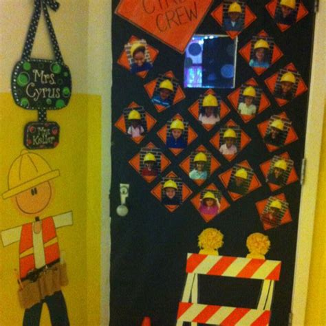 construction theme classroom decorations construction themed door bulletin board ideas