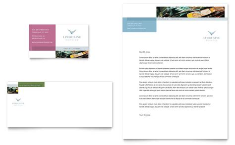limo company business card template limousine service business card letterhead template design