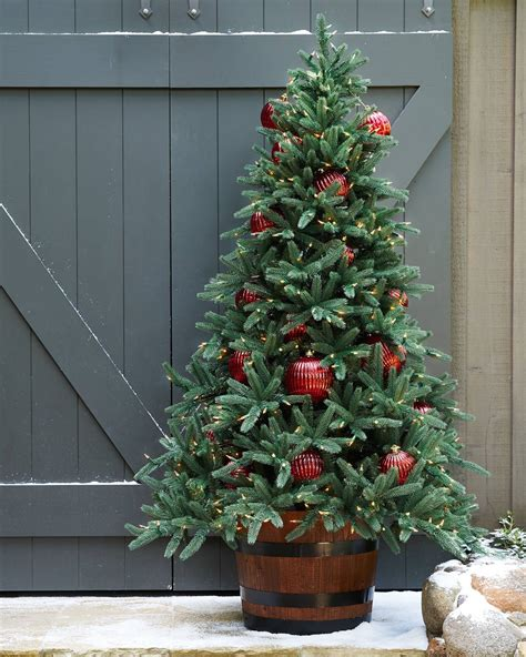 outdoor weihnachtsbaum oakville narrow outdoor tree balsam hill