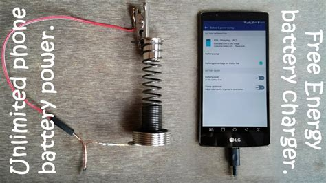 unlimited phone battery power with free energy generator