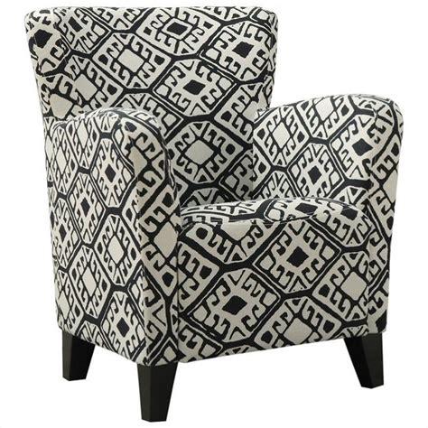 pattern fabric club chair fabric club chair in black geometric pattern i 8079
